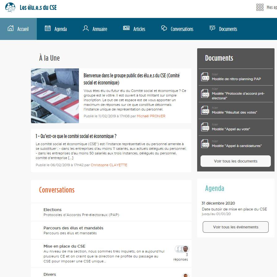 Lancement du site : les élus du CSE