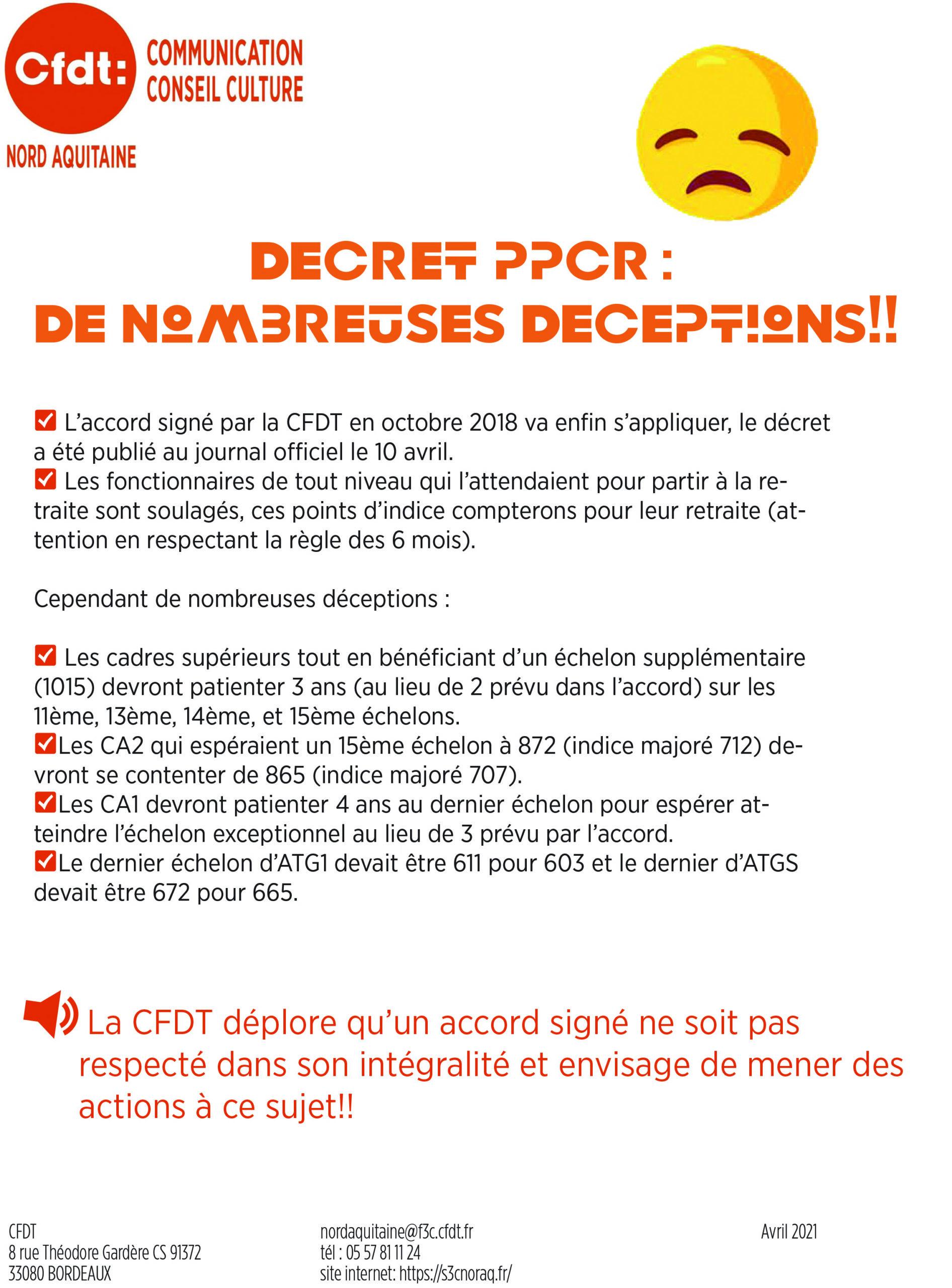 """<span style=""""color: #ff6600; font-size: 18pt;"""">Décret PPCR:</span> <span style=""""color: #ff6600; font-size: 18pt;"""">De Nombreuses Déceptions</span>"""